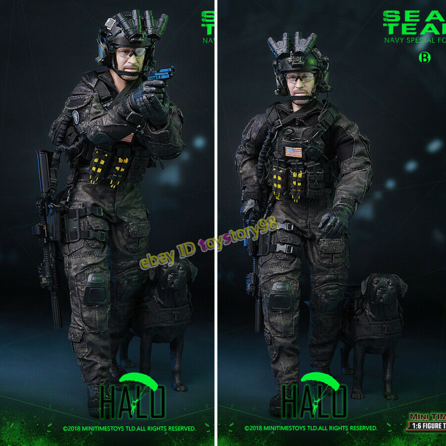 Minitimes Toys 1 6 M013 SEALTEAM SIX-HALO K9 Navy Special Forces Action Figure