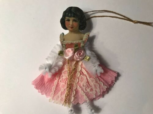 Paper doll Vintage inspired Christmas or Valentine ornament item# 37 Victorian
