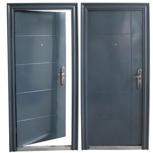 haust r t r sicherheitst r wohnungst r haust ren 96x205cm din rechts anthrazit ebay. Black Bedroom Furniture Sets. Home Design Ideas