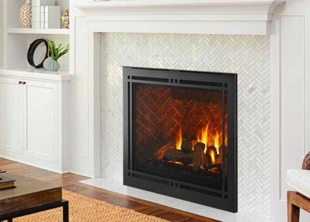 Majestic Meridian Platinum 36 Direct Vent Gas Fireplace With Log Set Embers For Sale Online