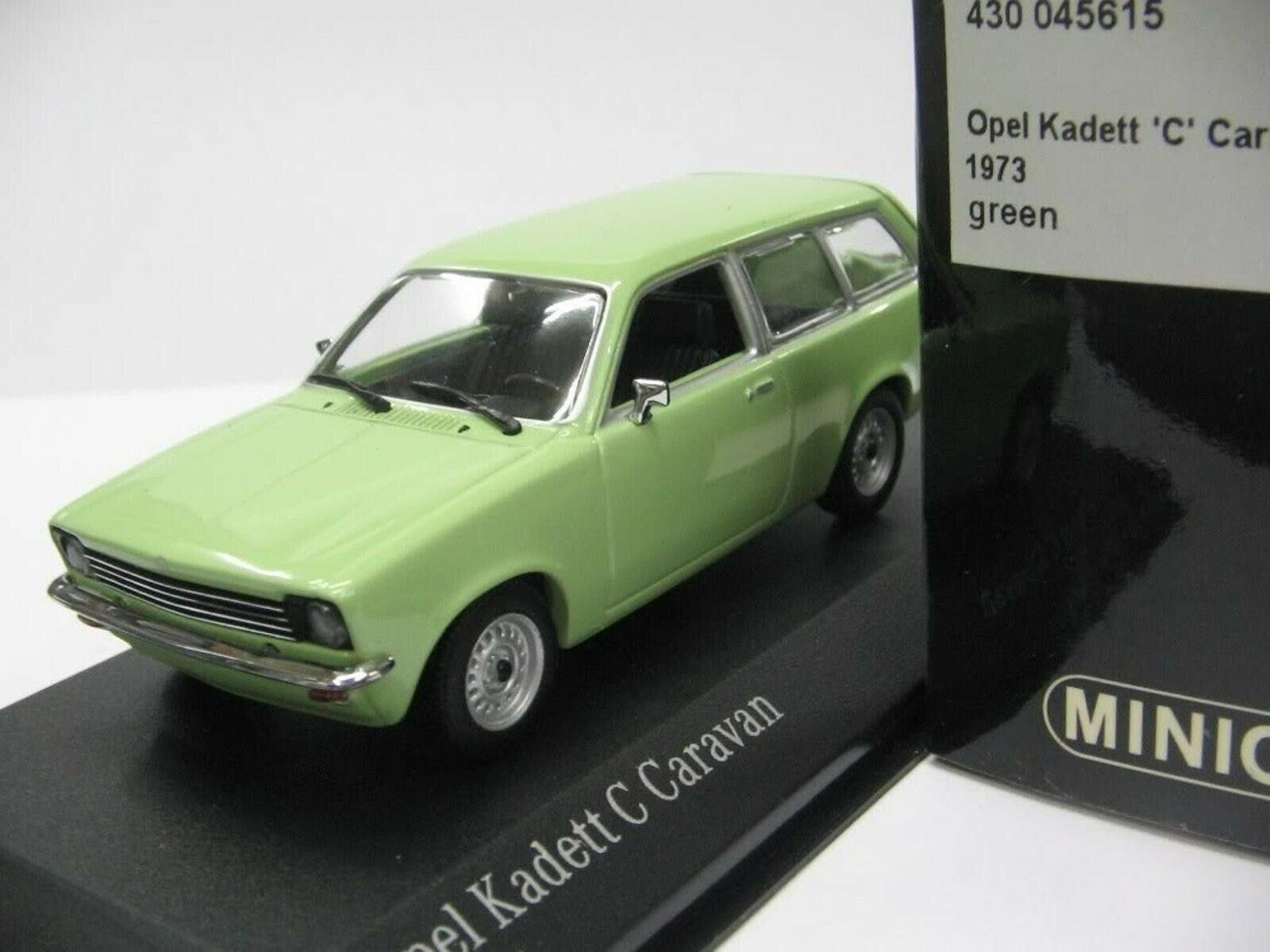 WOW estremamente raro OPEL KADETT C CARAVAN 1974 Lime verde 1 43 Minichamps-REKORD