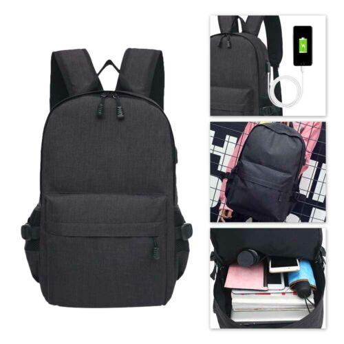 USB Port Unisex Anti-Theft Laptop Backpack Travel Business School Bag Rucksack