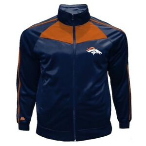 Broncos-Denver-Men-s-Jacket-Size-6XL-B-amp-T-Majestic-Navy-Oranges-Long-Sleeves-New