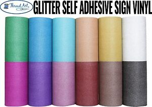 HUGE-55-YD-ROLL-12-034-GLITTER-SELF-ADHESIVE-SIGN-VINYL-12-COLORS-CRAFT-CRICUT
