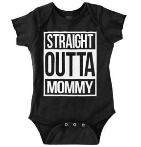 Straight Outta Mommy Funny Shirt   Cool Baby Clothes Compton Romper Bodysuit