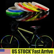 Bicycle Vetoo Reflective Tape Outdoor Safety Warning Lighting Sticker Waterproof Bike Reflector Tape for Car Motorcycle Rim Self-Adhesive DIY Decoration