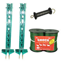 Electric Fence / Fencing: Green 3ft Post,twin Pack Xvalue Kit