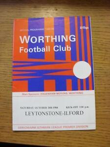 20-10-1984-Worthing-v-Leytonstone-Ilford-Good-Condition