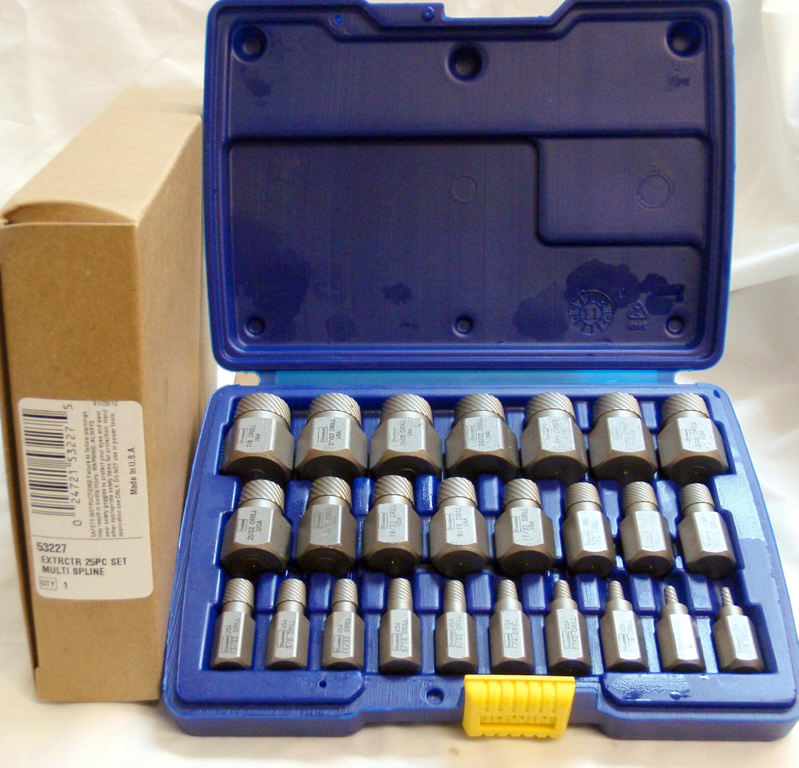 Irwin Hanson 53227 25pc. Multi-Spline Screw Extractor Set