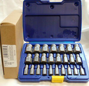 Irwin-Hanson-53227-25pc-Multi-Spline-Screw-Extractor-Set