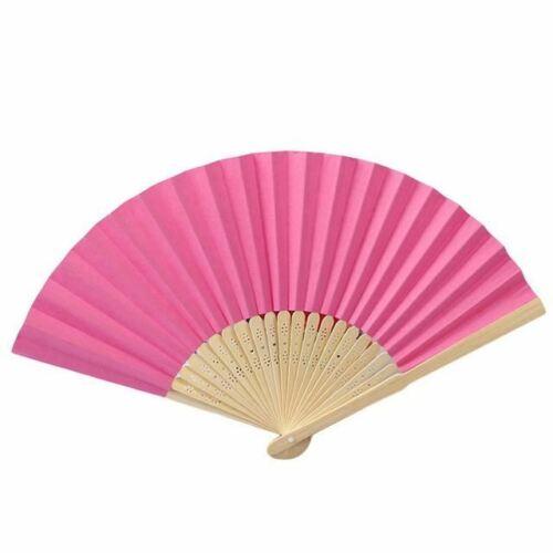 Patrón Plegable De Baile Boda Fiesta Encaje Seda plegable de mano ventilador de color sólido