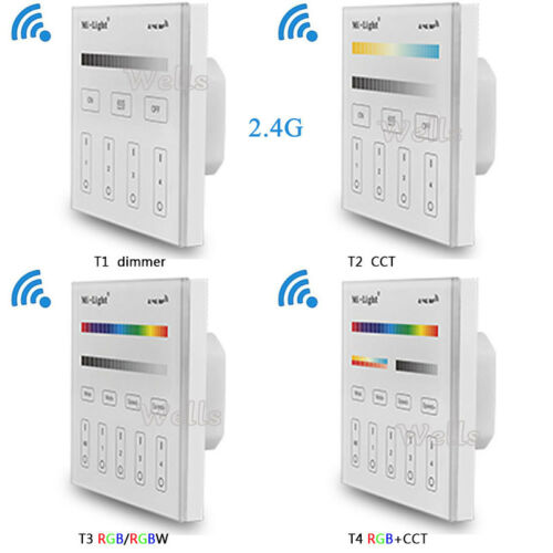 Mi light 2.4G T1//T2//T3//T4 Touch Panel led Dimmer//RGB//RGBW//RGB+CCT LED CONTROLLER