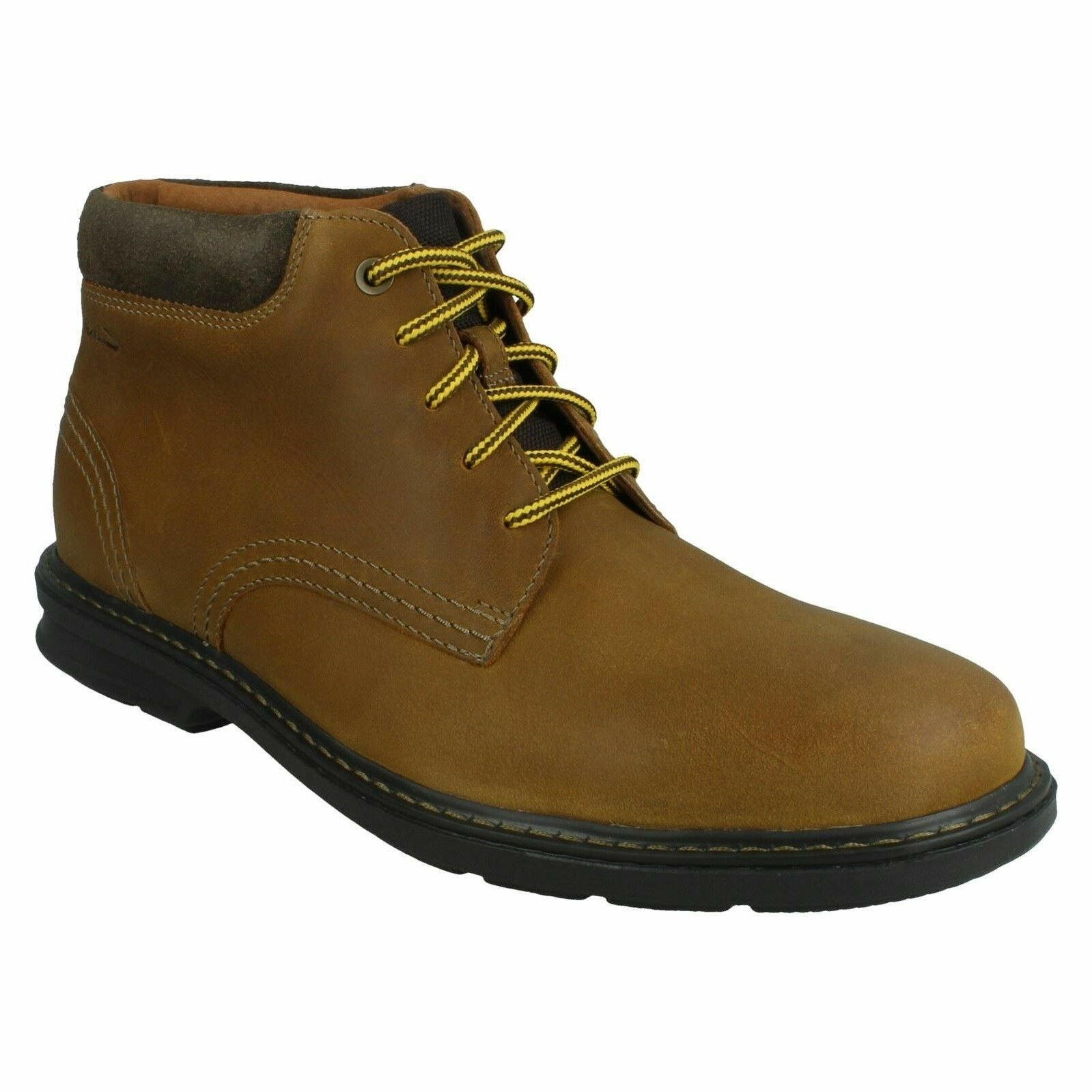 RENDELL WORK MENS CLARKS LEATHER EVERYDAY LACE UP SHOES ANKLE CASUAL BOOTS SIZES