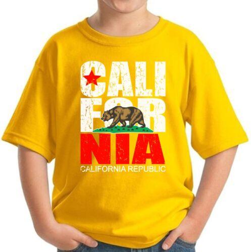 Cali Bear Youth Shirt Kids California Republic Shirt California Gifts for Kids