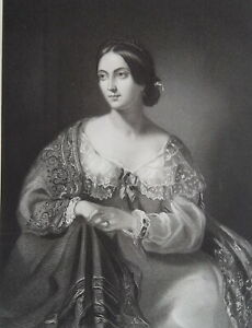 DUCHESS-OF-WELLINGTON-Elizabeth-Wellesley-Portrait-1840s-Antique-Print