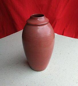 Détails sur Céramique.Pied de lampe Grès émaillé,signé BONNARD,fait main. Rouge brique