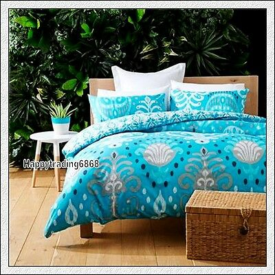 White Aqua Silver Black Natural* KING QUEEN DOUBLE SINGLE QUILT DOONA COVER SET