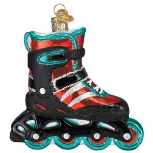 034-Inline-Skate-034-44142-X-Old-World-Christmas-Glass-Ornament-w-OWC-Box