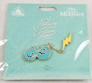 New-Disney-Store-Flotsam-and-Jetsam-Bolt-Pin-Set-The-Little-Mermaid-Ursula-039-s