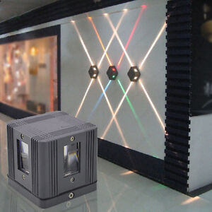 Outdoor 3w Led Wall Sconce Light Fixture Waterproof Lamp Building Exterior Decor Ebay