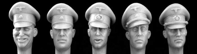 HORNET MODELS GERMAN HEADS WITH STEEL HELMETS 1:35 HGH04