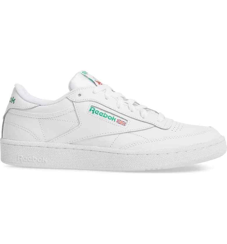 Zapatos de Cuero Reebok Para hombres Clásico CLUB C 85 blancoo verde AR0456 C
