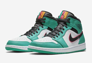 405bc27b167e5e Nike Air Jordan 1 Mid SE South Beach Green Pink 852542 306 Size 4Y ...