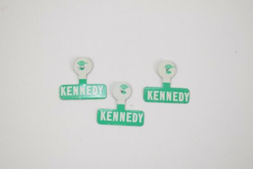 Lot of 3 Kennedy fold over campaign tabs