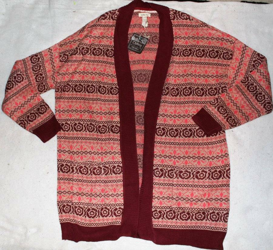 NWT Woman's MATILDA JANE Friends Forever HARMONY Knit Sweater Cardigan LARGE