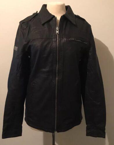 Jacket Hero Superdry Leather Small Benjamin In Black Coat Size xAq7pvHwUq