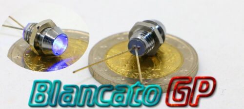 Blue LED Indicator 3v with 3mm Metal portaled without cables