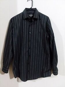 Men-039-s-Kenneth-Cole-Reaction-long-sleeve-striped-shirt-size-15-1-2-32-33