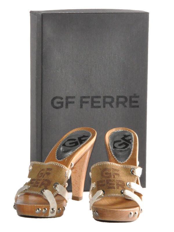 Original gf Ferre señora cuero pumps sandalias,, decolette talla talla talla 38 - 39 nuevo con embalaje original  distribución global