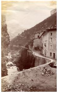 France-Pont-en-Royans-Panorama-Vintage-albumen-print-Tirage-albumine-11x