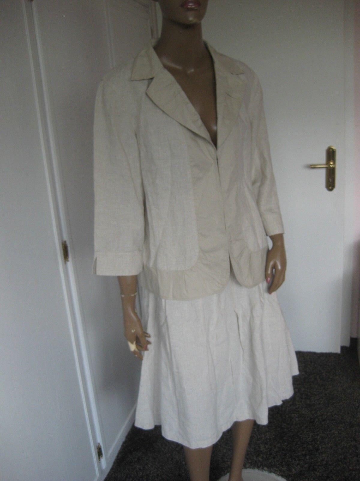 bbad420a36 Barclay Costume Rock + Blazer beigeton tg. 46 100% LINO Betty Heller  nrfvcy4695-Tailleur e abiti sartoriali