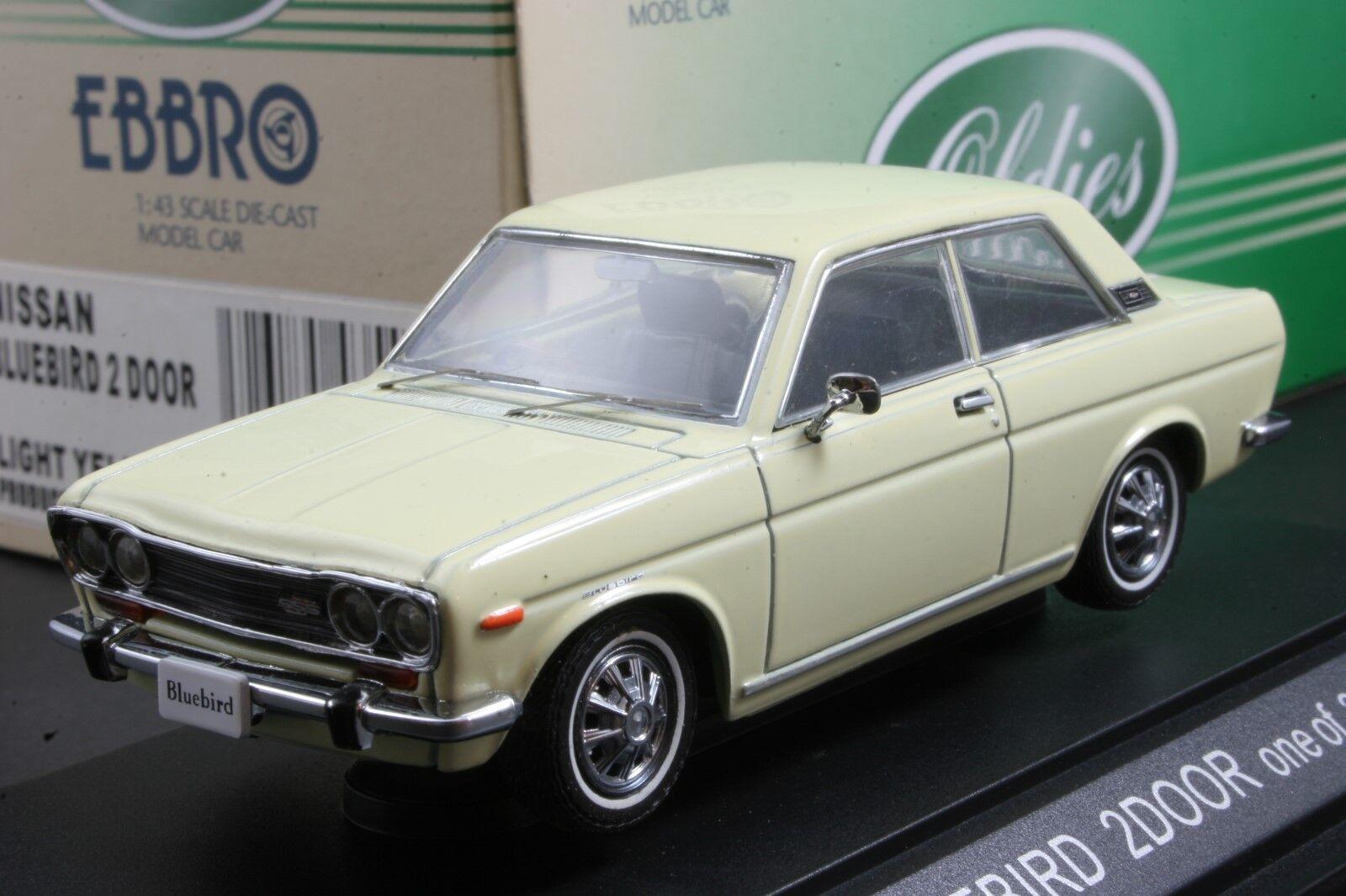Ebbro 43543 1 43 Scale Nissan blueebird 2 Door Light Yellow  Die Cast Model Car