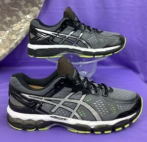 Details about ASICS Gel KAYANO 22 Charcoal Silver Lime Running T547N 41.5  women 9.5 / men 8