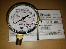 """2/""""X4000 PSI pressure gauge Oxygen Acetylene Regulator 0-4000 PSI 1//4-18 2-4000"""