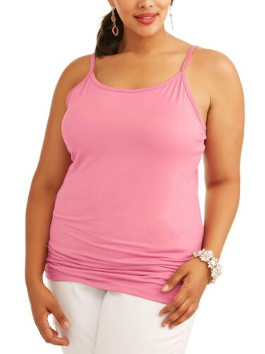 NEW Women's Plus Size Terra /& Sky Long Tunic Cami in 9 Colors /& 5 Sizes OX-4X.