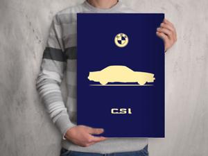 Art Imprimé Voiture Silhouette Affiche A4 A3 A2 BMW E24 635CSi -