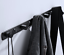 miniature 12 - 3-6Hooks Coat Robe Hat Clothes Hanger Towel Rack Space aluminum Wall Mount Black