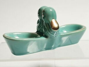 Salzstreuer Pfefferstreuer aus Keramik Vintage Von Vallauris Dekor Kopf Enten