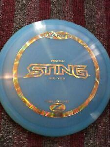 Discraft First Run Elite Z Sting 173-174 gram Blue Golf Disc