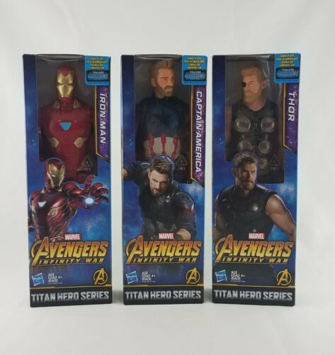 LOT DE 3 AVENGERS INFINITY guerre Titan Hero Series Iron Man Captain America Thor