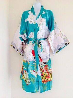 Hot Oriental Silk Women's Kimono Robe Night Gown