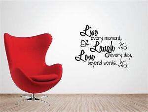 Live-Laugh-Love-Vinilo-de-pared-insperational-Family-Life-Pegatina-Decorativa