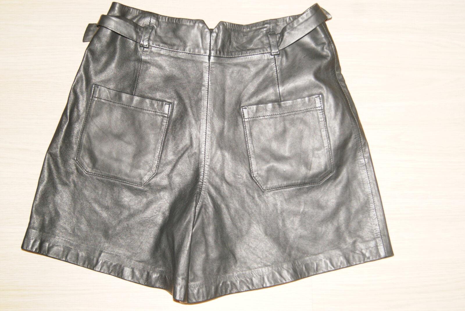 SET Lederhose Gr. 38 M M M OUISET Oui schwarz Ledershorts Bermuda kurz Shorts NEU | Vielfalt  7236e0