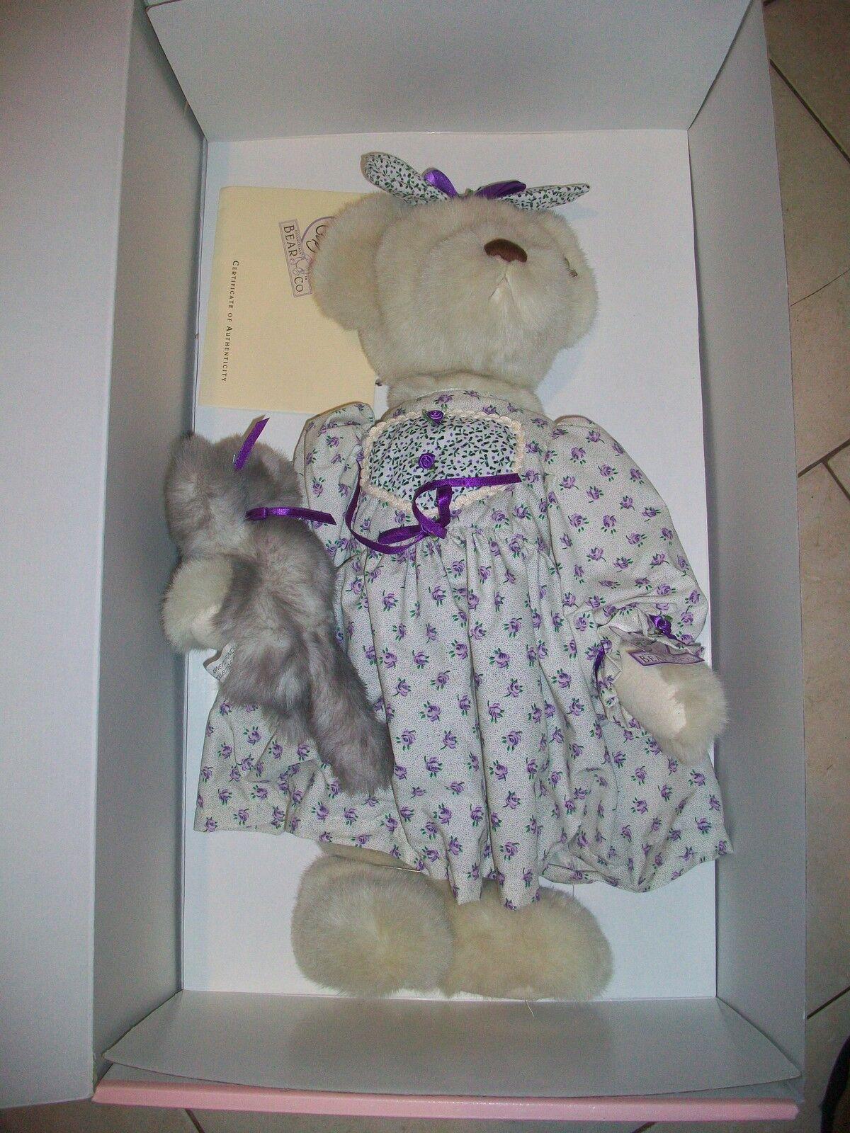 ANNETTE FUNICELLO TABITHA BEAR W/TABBY KITTY 21  Teddy Bear LIMITED EDITION