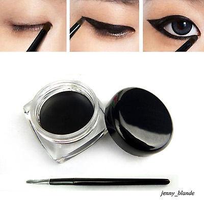Charm Lady Black Waterproof Eyeliner Shadow Long Last Gel With Cosmetic Brush