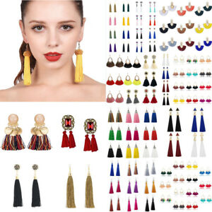 Women-Fashion-Boho-Tassel-Hook-Hoop-Erarrings-Drop-Dangle-Earring-Jewelry